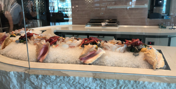 bar à fruits de mer du celebrity edge