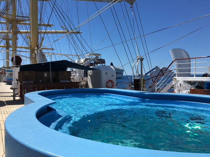 La piscine du Royal Clipper