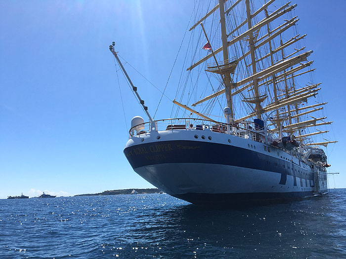 Le Royal Clipper en vue de poupe