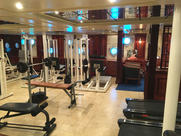 La salle de sport du Royal Clipper
