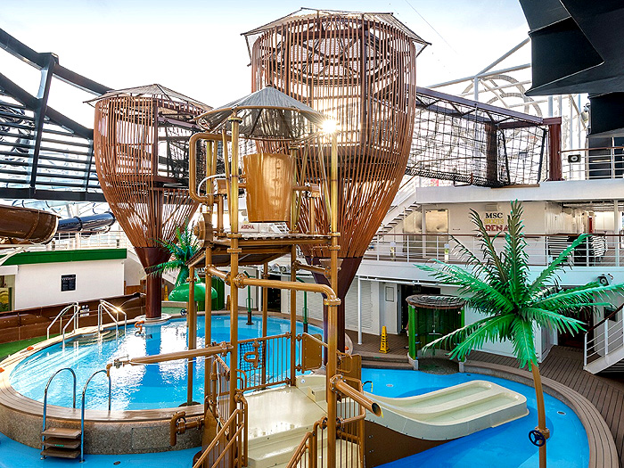 Le parc aquatique du MSC Seashore