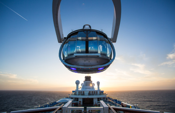 The North Star : une exclusivité de Royal Caribbean qui permet une vue à 360° sur la mer...